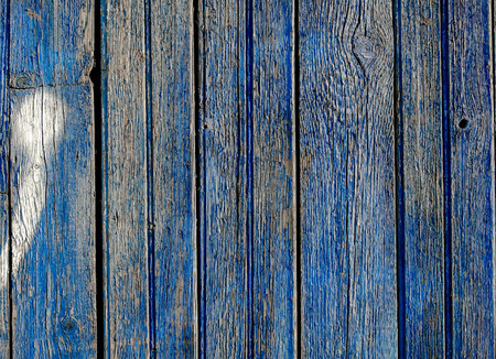 painted wood: Painted in blue old obsolete wood planks