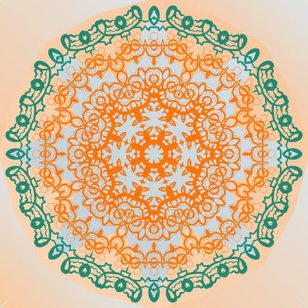 yantra: Ornate mandala design yoga karma yantra vector artwork Illustration