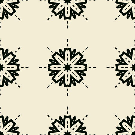 lotus pattern: Seamless Print with Stylized flowers over light Yellow background. Illustration
