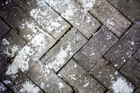 weathered: Old weathered parquet