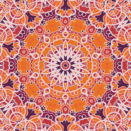 scrollwork: Mandala Print. Illustration