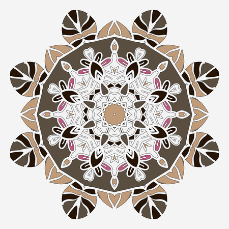 temlate: Stylized mandala temlate handmade vintage element for design