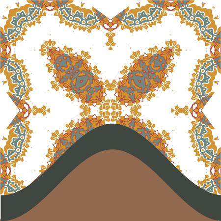 karma design: Book cover design with oriental mandala inspired artwork Illustration