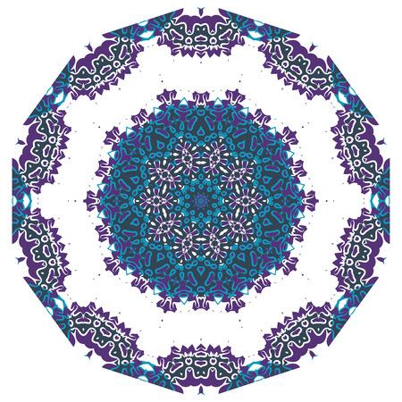 yantra: Ornamental round lace indian style. Islamic art. Illustration