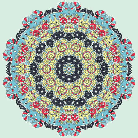 yantra: Bright coloured seamless mandala for greeting card, Brochure, Card or Invitation with Islamic, Arabic, Indian, Ottoman, Asian motifs. Abstract Retro Stylized flowers wallpaper