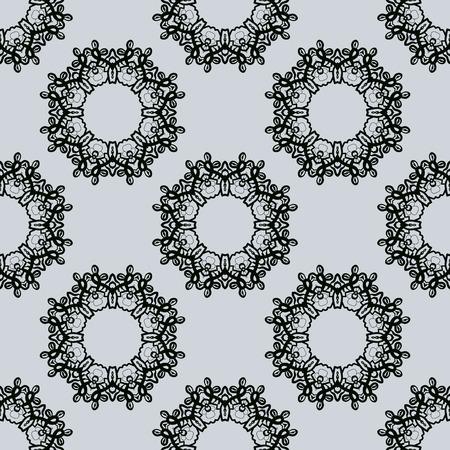 od: Syamless Print made od stylized round frames in oriental style