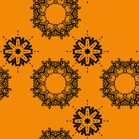 lace like: Seamless outlined mandlal like wallpaper design, tiled lace