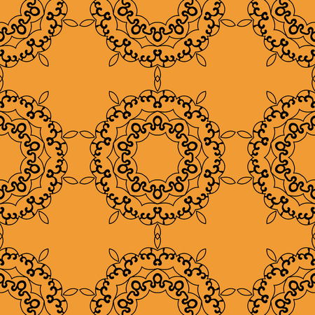 postcard background: Mandala postcard wallpaper tile. Ornamental seamless pattern oriental mandala art inspired design. Vector abstract background. Illustration