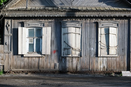 urban decay: Old house in Astrakhan, Russia