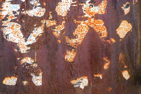 battered: Rusty metal wih dirt. Rusty and battered metal background