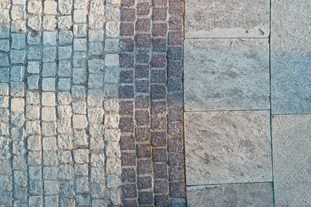 empedrado: camino pavimentado desde arriba, una gran cantidad de lugar para el texto