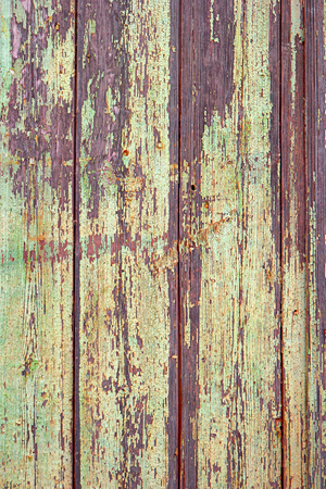 colorized: Old painted in yellow wooden planks, toned colorized image Stock Photo