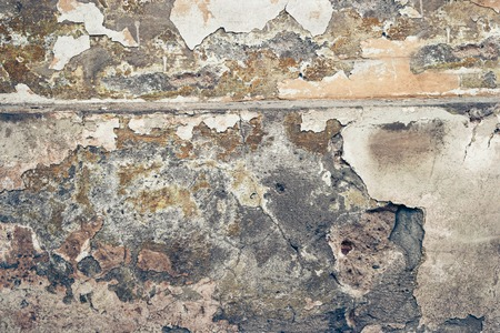 colorized: Grungy wall. Shabby construction toned image, colorized.
