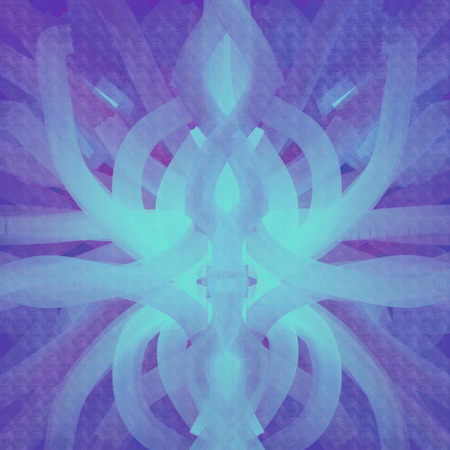symmetrical: Symmetrical background paint in azure and violet colors