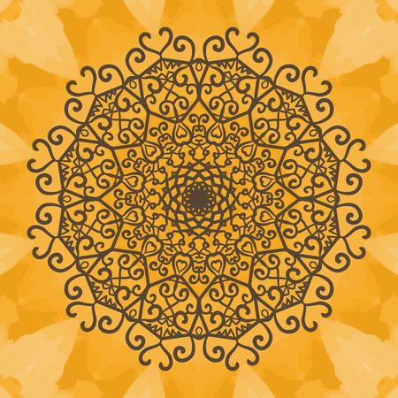 distinguished: Print Mandala background. Vintage decorative element on seamless texture. Hand drawn background. Islamic, Arabic, Indian, Asian, Ottoman motifs.