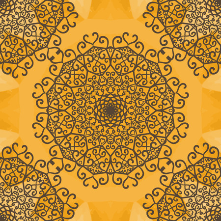 dainty: Mandala Indian Yoga Ornament, kaleidoscopic floral pattern, yantra. Seamless ornament lace.Oriental vector pattern. Islamic,Arabic, Indian, Turkish, Pakistan, Chinese, Asian, Moroccan, Ottoman motifs.