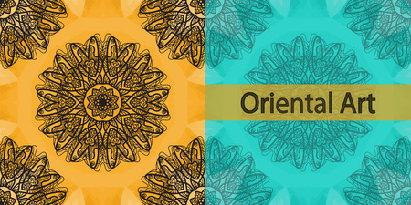 yantra: Invitation Cover Based on Oriental Art Print. Yoga Ornament, kaleidoscopic floral  yantra. Seamless ornament lace. Oriental vector pattern. Islamic,Arabic, Indian, Turkish, Pakistan, Chinese, Asian, Moroccan, Ottoman motifs. Mandala outlined.