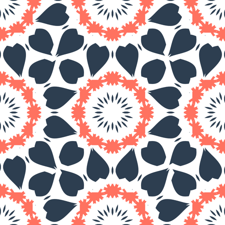 Seamless abstract pattern for fabric print Illustration