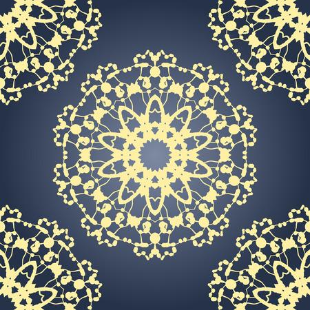 karma design: Seamless vector Yoga pattern. Vintage decorative elements. Hand drawn retro background. Islamic, Arabic, Indian mandala.