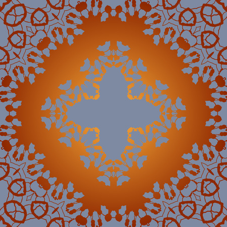 karma design: Seamless Print Tile in Arabian style Illustration