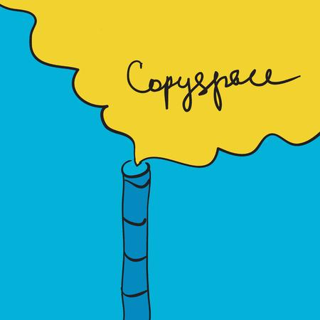 contaminacion del aire: Aire concepto de la contaminaci�n de la chimenea que fuma el copia-espacio