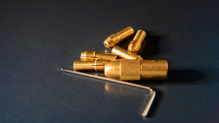 collet: Collet chuck brass Collet Fits Adapter on black background