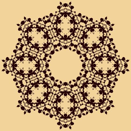 blobs: Handmade mandala of water stains ink blobs.