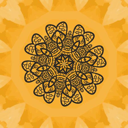 Yoga Print. Ornament, kaleidoscopic floral  yantra. Indian Art. Seamless ornament lace. Oriental vector pattern. Islamic,Arabic, Indian, Turkish, Pakistan, Chinese, Asian, Moroccan, Ottoman motifs. Mandala outlined.