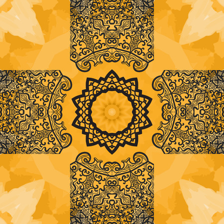 newage: Elegant Orient Print on watercolor Seamless Texture background. Vintage decorative element on endless texture. Hand drawn background. Islamic, Arabic, Indian, Asian, Ottoman tribal motifs.