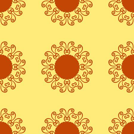 Ornament, kaleidoscopic floral  yantra. Indian Art Print. . Seamless ornament lace. Oriental vector pattern. Islamic,Arabic, Indian, Turkish, Pakistan, Chinese, Asian, Moroccan, Ottoman motifs. Illustration