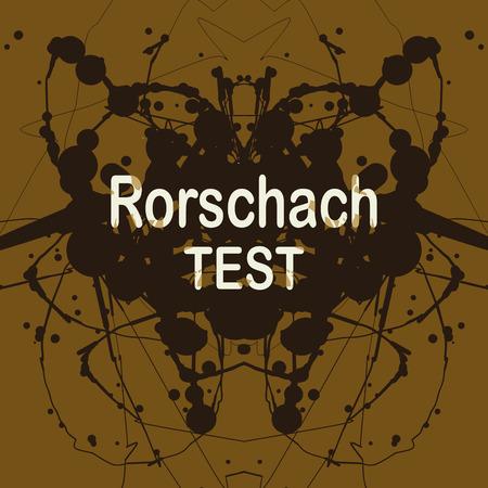 inkblot: Rorschach inkblot test vector illustration. Random abstract background of blotches. Psycho diagnostic inkblot test of Rorschach.