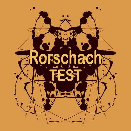 inkblot: Rorschach inkblot test vector design. Psychological testing inkblot Rorschach test