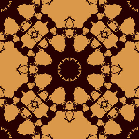 inkblot: Rorschach inkblot test vector design. Abstract seamless pattern. For fabric, wallpaper, print, warping paper.