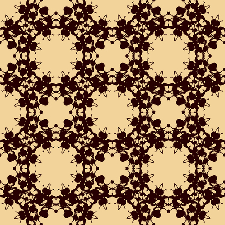 Seamless Print Brown Color made of Blobs Blots and Inkblots