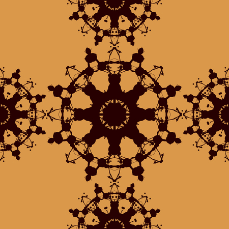 inkblot: Seamless Tile Based on Rorschach inkblot test. Abstract seamless pattern. For fabric, wallpaper, print, warping paper and so on.