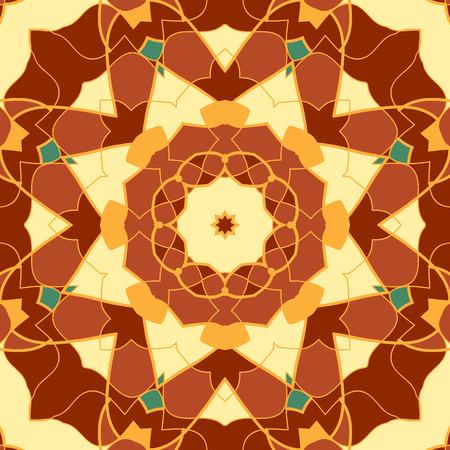 Seamless Pattern Stylized Mandala Like Vintage Decorative Elements. Oriental pattern vector illustration. Islamic, Arabian, Indian, Turkish, Pakistan, Chinese, Moroccan, Ottoman, Persian motifs.