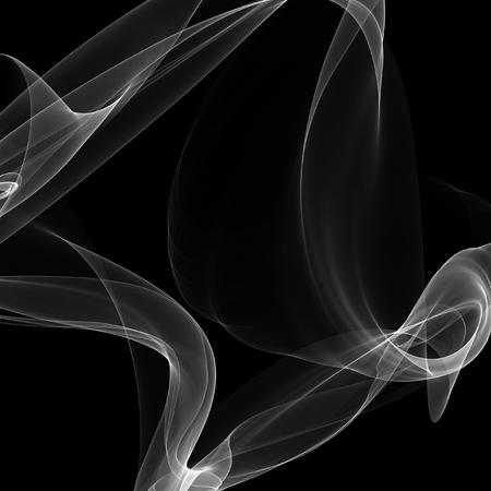 noxious: Smoke on black background. White smoke on dark backdrop. Stock Photo
