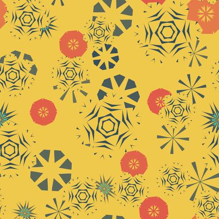Circulaire kleurrijke textuur voor textiel, kromtrekken papier, vloerbedekking, childs kleding. Naadloos cirkel abstract patroon Stock Illustratie
