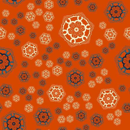 Warping paper Print seamless tile on orange background. Illusztráció