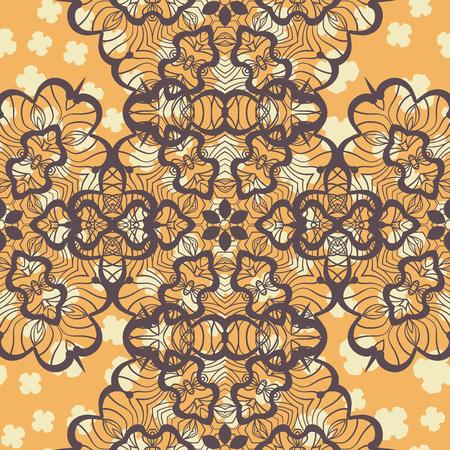 Abstract Stylized Shape Mandala Print