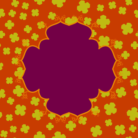 Violet Abstract Clover Mandala Print.
