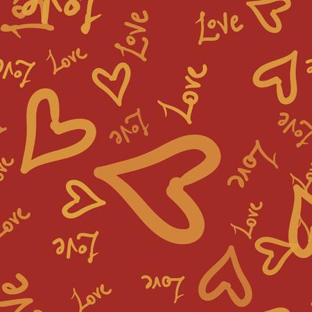 Heart Love seamless pattern background