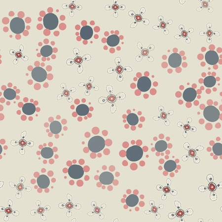 Childish cute fabric. Hippie wallpaper with funny small flowers ditsy-like print