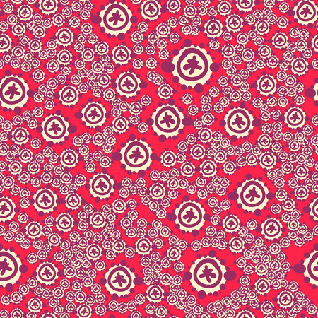 Naive romantic seamless primitive flower ditsy pattern with wild flowers, summer time, nature in bloom, colorful floral background all-over print