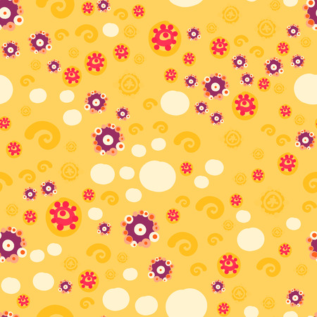 Textile Print Sunny Yellow Color ditsy floral seamless background