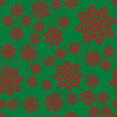 Seamless ethnic pattern with floral motives. Mandala stylized print template for fabric or warping paper. Boho crazy fashion design . Illusztráció