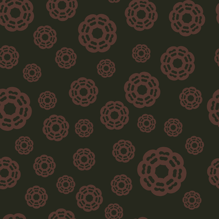 Seamless background brown o brown. Arabic, Ottoman, Persian Pattern. Mandala ornament. Vector illustration. Can be used for wallpaper, warping paper, fabric.