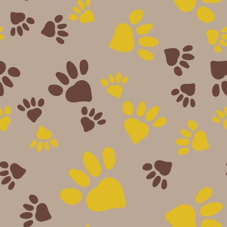 Animal Foot Prints. Archivio Fotografico - 98729726
