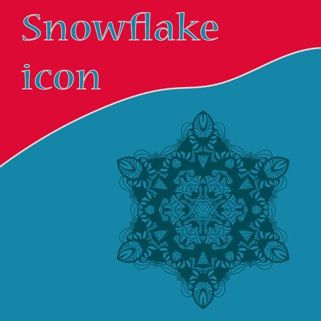 Vinatge snowflake icon, vector design for winter holidays invitations