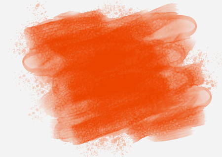 Red aquarelle brushstrokes blurred paint background Stock Photo